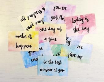 10 Positive Motivational Affirmation Cards