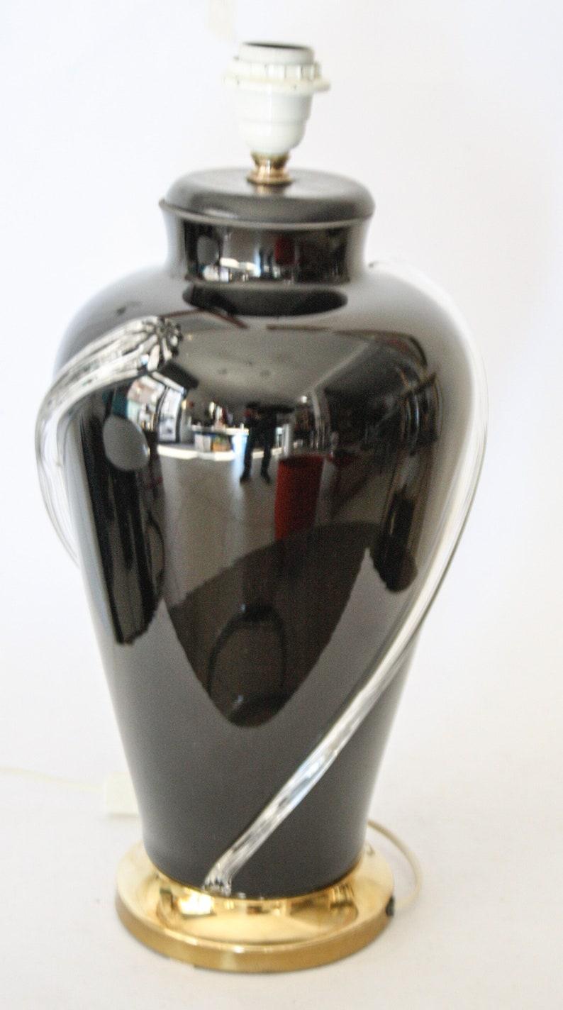 Elegant Murano glass lamp black Vintage design anni 70 Nason Mazzega
