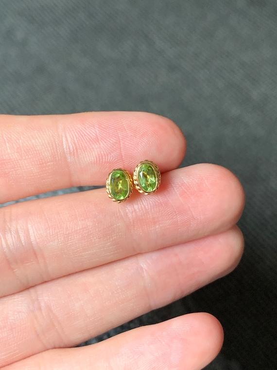 Beautiful 9ct gold peridot earrings