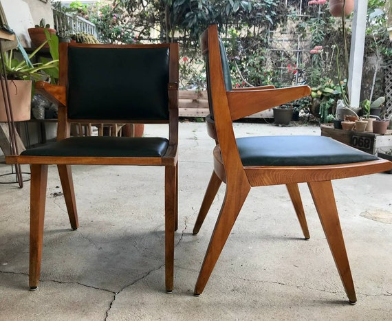 Vintage Daystrom Style Modernist Side Chairs Etsy
