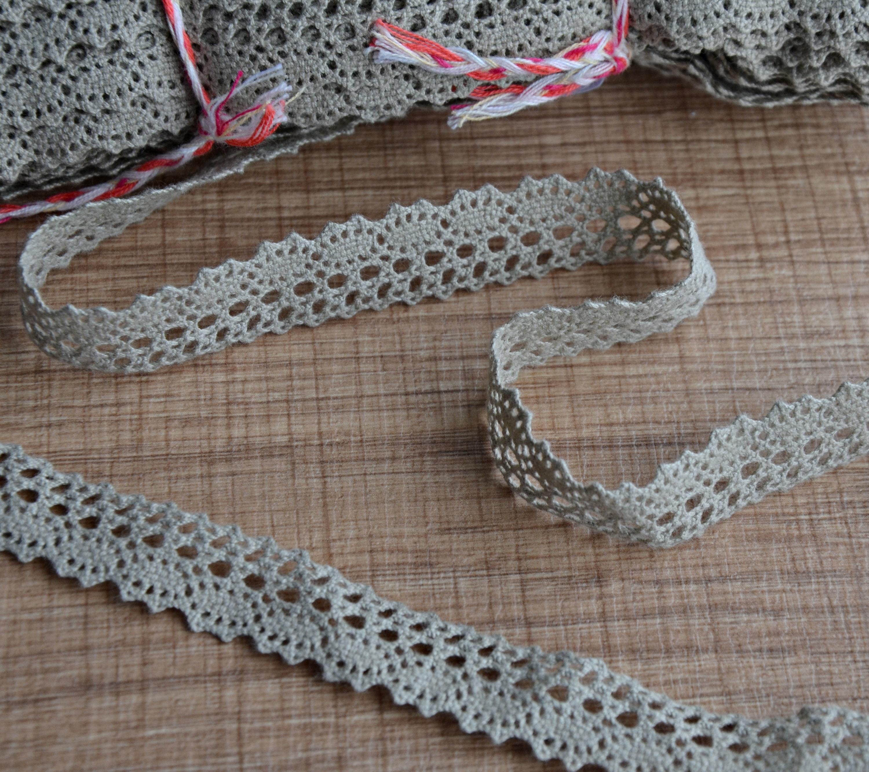 Garniture Style Vintage étroit dentelle dentelle étroit de lin, dentelle Crochet gris bord pour nappe fabrication Home Decor, 07.1.038 193fcf