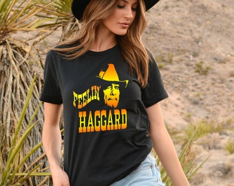 9d5da65a Merle Haggard Country Music T Shirt, Feelin' Haggard, The Hag Tee Shirt,  Mighty Merle Shirt, Highway Men Gift, Father's Day Shirt, Outlaw T