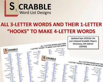 PDF Scrabble Word List Cheat Sheet: 2 letters words and their | Etsy