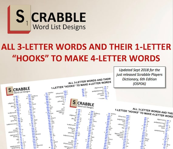 PDF Scrabble Word List Cheat Sheet: 3 letters words and their