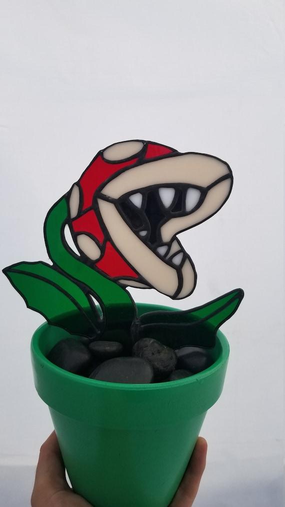 Glasmalerei-Super Mario Piranha-Pflanze