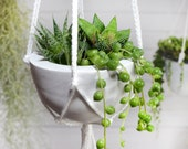 Hanging Succulent planter geometric 18 colors, Macrame Plant Hanger With Pot Included