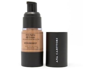 Vegan BB Cream - Medium Deep / Cruelty Free Makeup, Gluten Free Makeup, Natural Sun Protection, Natural Ingredients, Makeup Primer