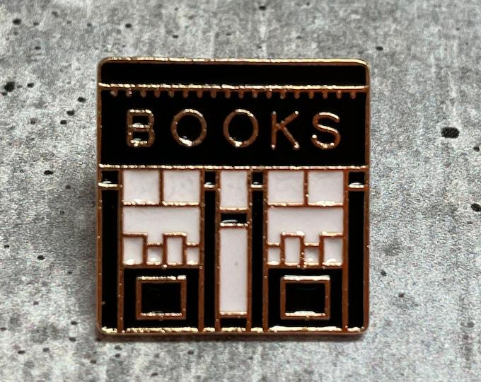 Bookshop Metal Pin