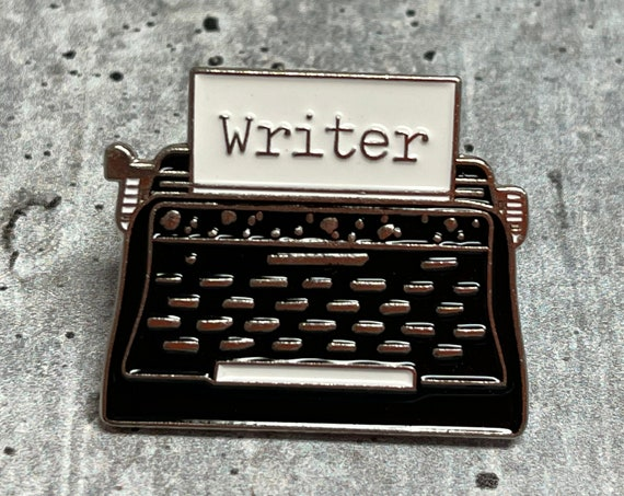 Writer Metal Pin