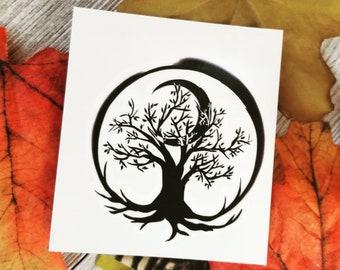 """Tree of Life Temporary Tattoo 2.5"""" x 3"""