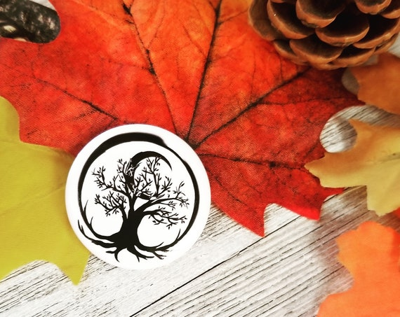 "Tree of Life 1.5"" Round Button"