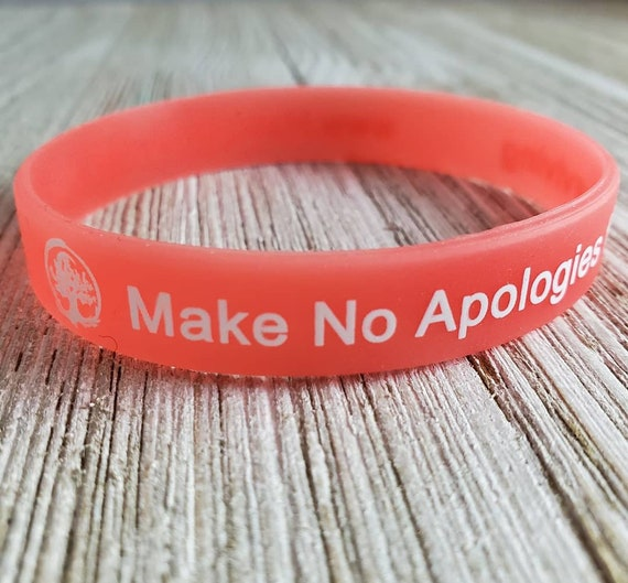 Make No Apologies for Surviving (Glow in the Dark!) Wristband