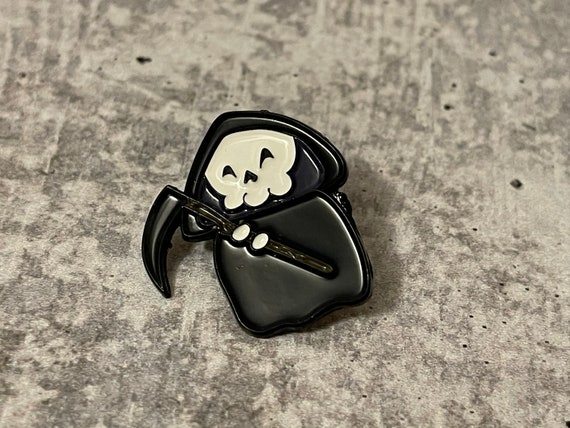 Grim Reaper Metal Pin
