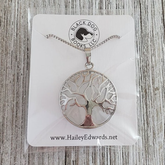 Rock Crystal Tree of Life Pendant