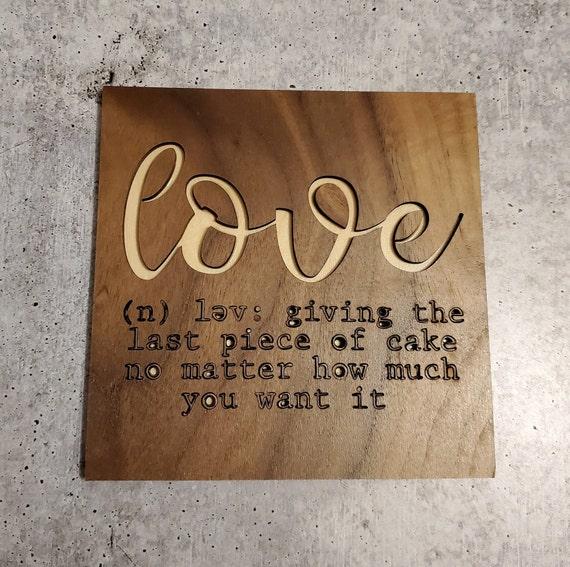 Mini Love/Cupcake Sign