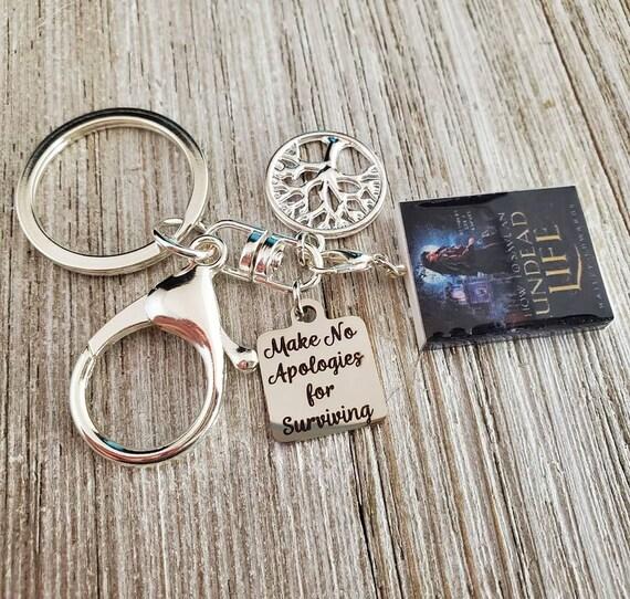Make No Apologies for Surviving/Tree of Life/TBGTN Silvertone Keychain