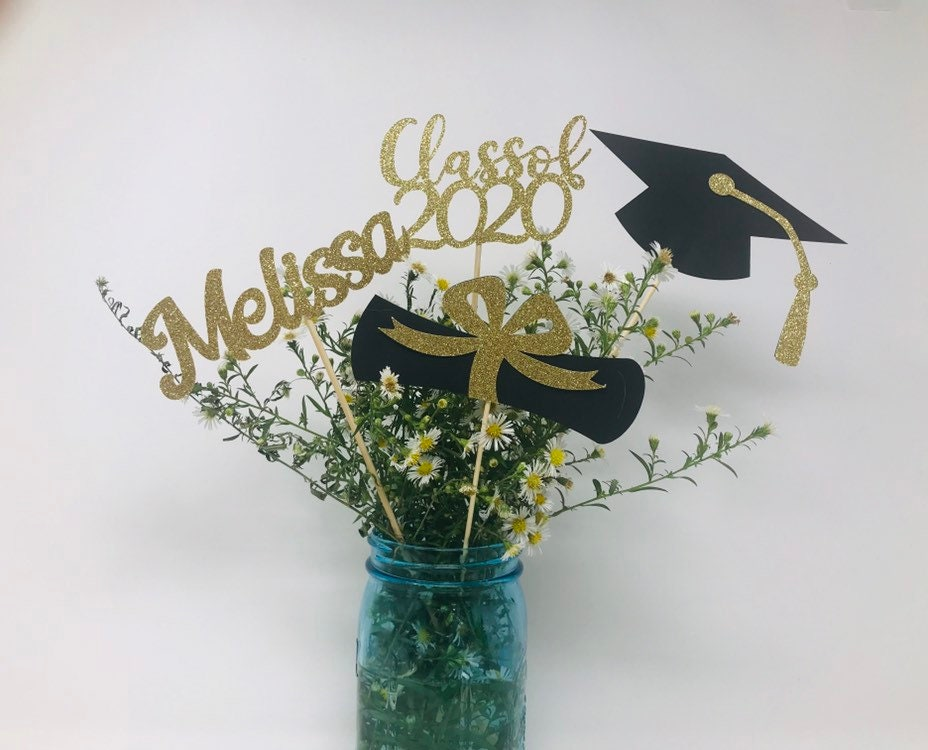 Graduation party decorations, 2020 Graduation Centerpiece ...