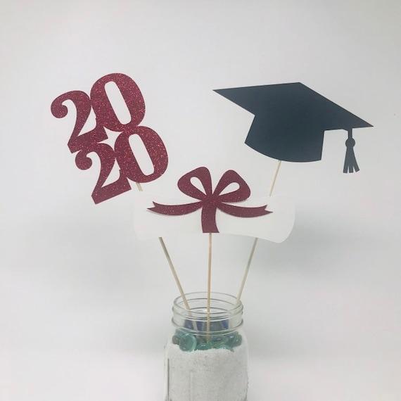 2020 Graduation Decorations.Graduation Party Decorations 2020 Graduation Centerpiece Red Graduation Decor Class Of 2020 Graduation Decorations Prom 2020
