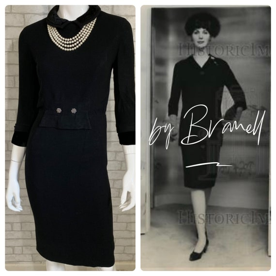 Vintage/Antique House of Branell 40's wiggle dress