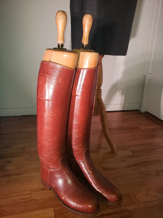 Late 1930's US Military Cavalry Boots Made by Dehn