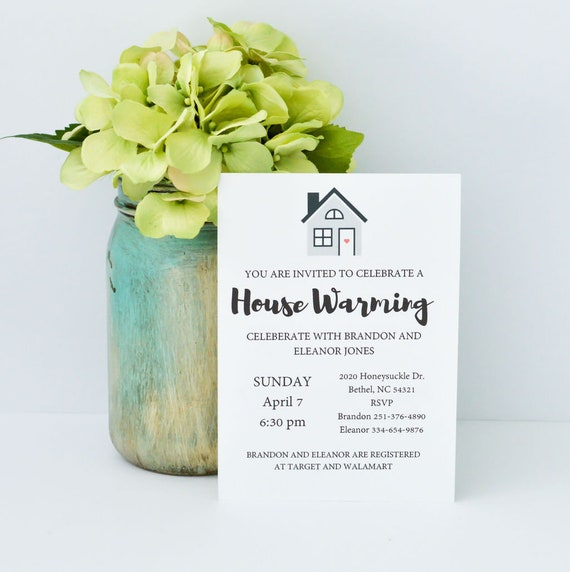 House Warming Party Invitations Instant Download Digital Printable Print 5x7 Invitations Cards House Party Home