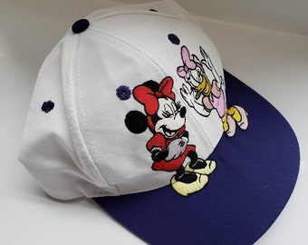 295fd7ce27e Vintage Minnie Mouse   Daisy Laughing Snap-back Baseball Hat