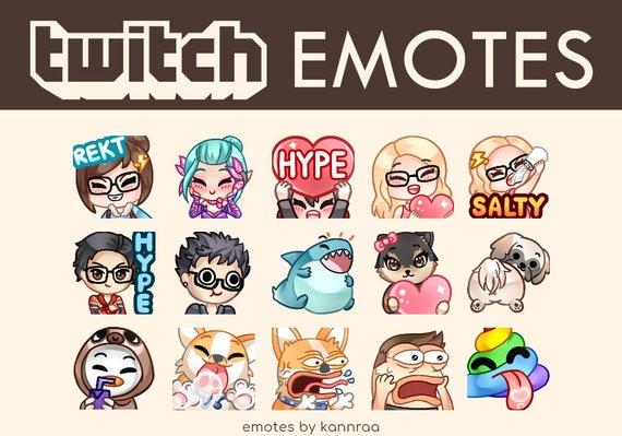 3 Custom Twitch Emotes, Discord Emotes, or Twitch Sub Badges