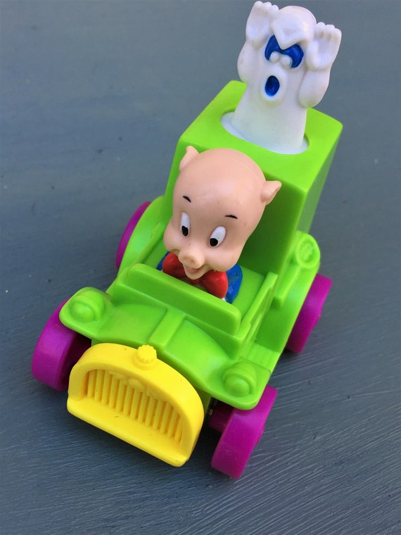 Quack Up Cars Toys McDonalds Toys and Games Push /& Pull Vehicles Porky Pig Ghost Catchers Looney Tunes Warner Brothers