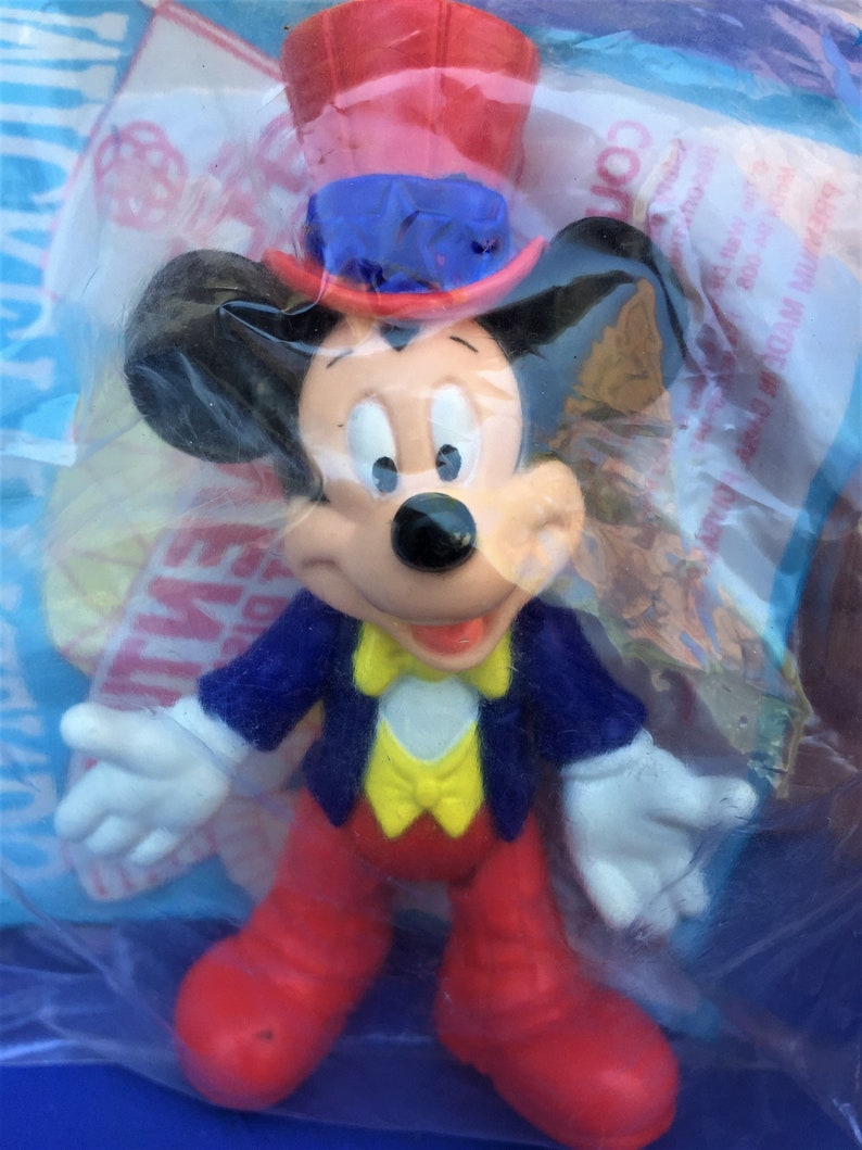 Mickey Mouse U.S.A Under 3 1993 Epcot Center Disney McDonald/'s Happy Meal Toy