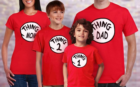 33497ffb Thing 1 Thing 2 Family Shirt Thing Dad Thing Mom T-shirt for | Etsy