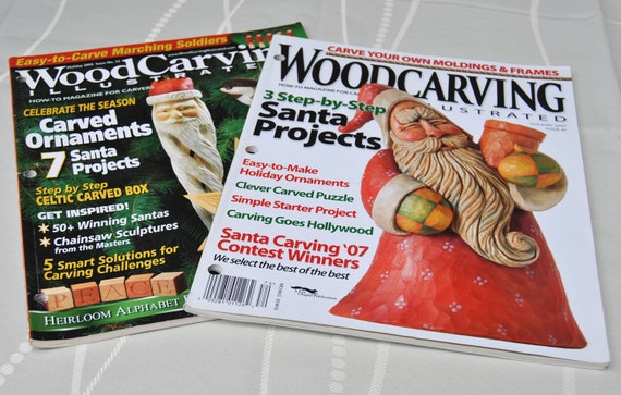 Four Wood Carving Illustrated, Lot of four Wood Carving Magazines, craft  supplies, wood carving, whittling