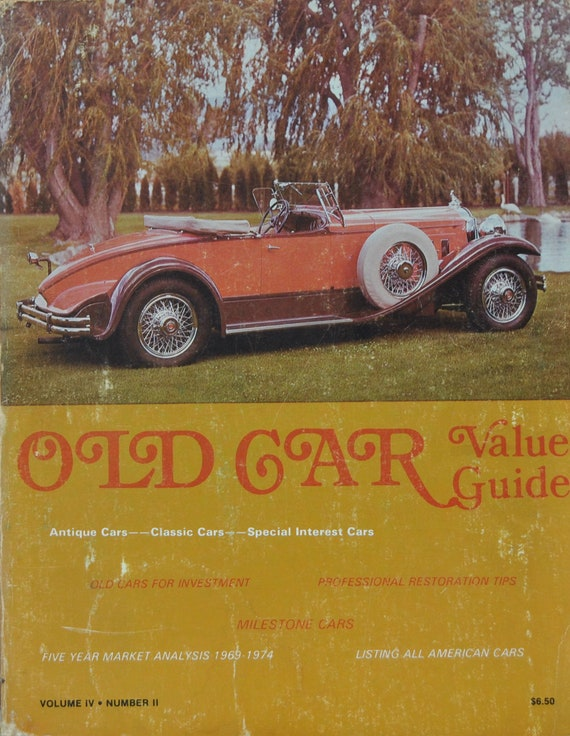 Old Car Value Guide Lot Of Three Guides 1974 1976 1979 Etsy