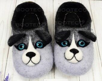 b03f499264c7c Husky slippers | Etsy