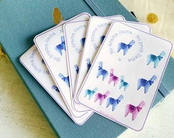 No drama llama mini printable stickers set