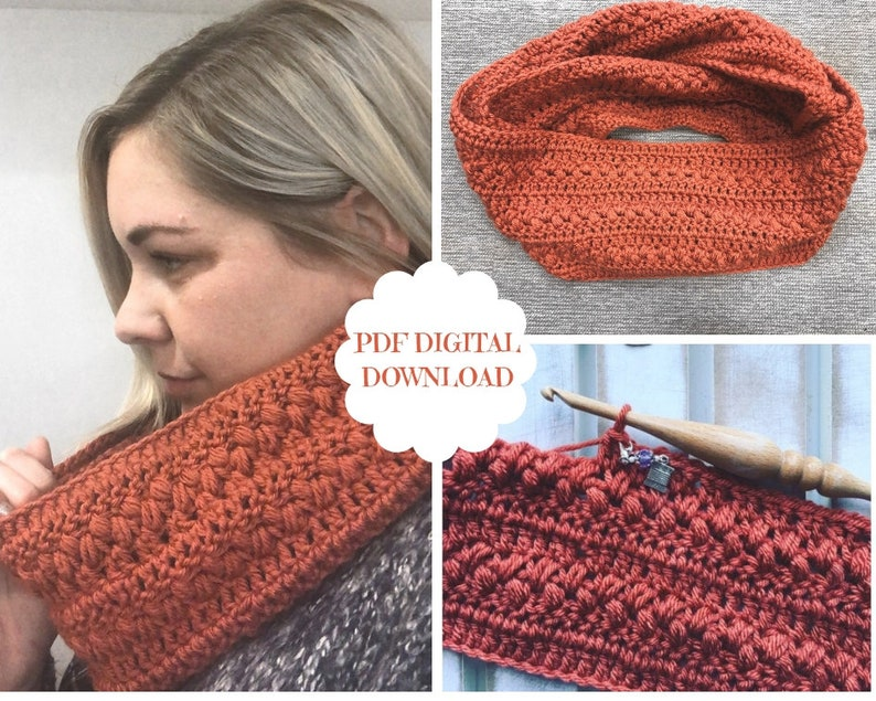 Crochet Pattern for the Brickfield Infinity Cowl image 0