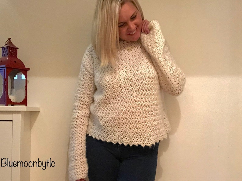 Crochet Pattern for the Cotton Tail Jumper. Sized XS  5XL image 0