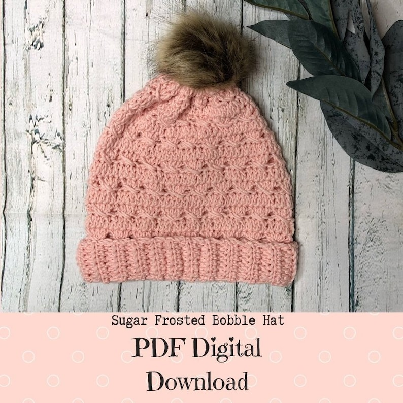 Crochet pattern for the Sugar Frosted Bobble Hat image 0
