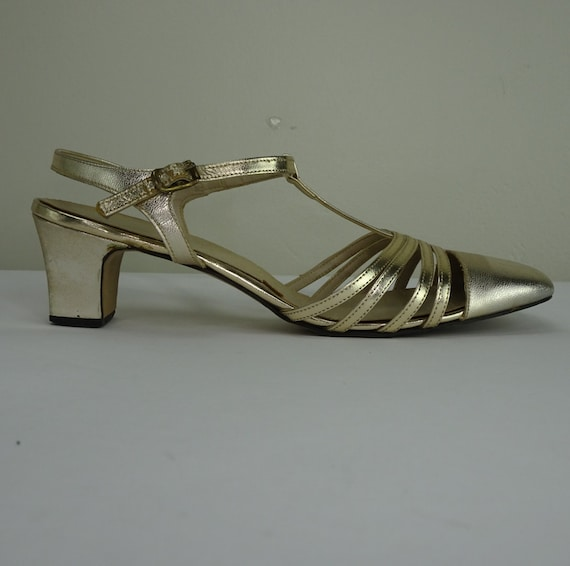 Vintage Gold Mary Janes