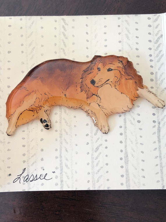 "Vintage ""Rough Collie"" Brooch"