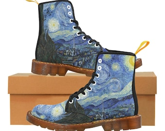 82310f9580b The Starry Night Vincent Van Gogh Boots - Vintage Art Women s Boots - Snow  Boots