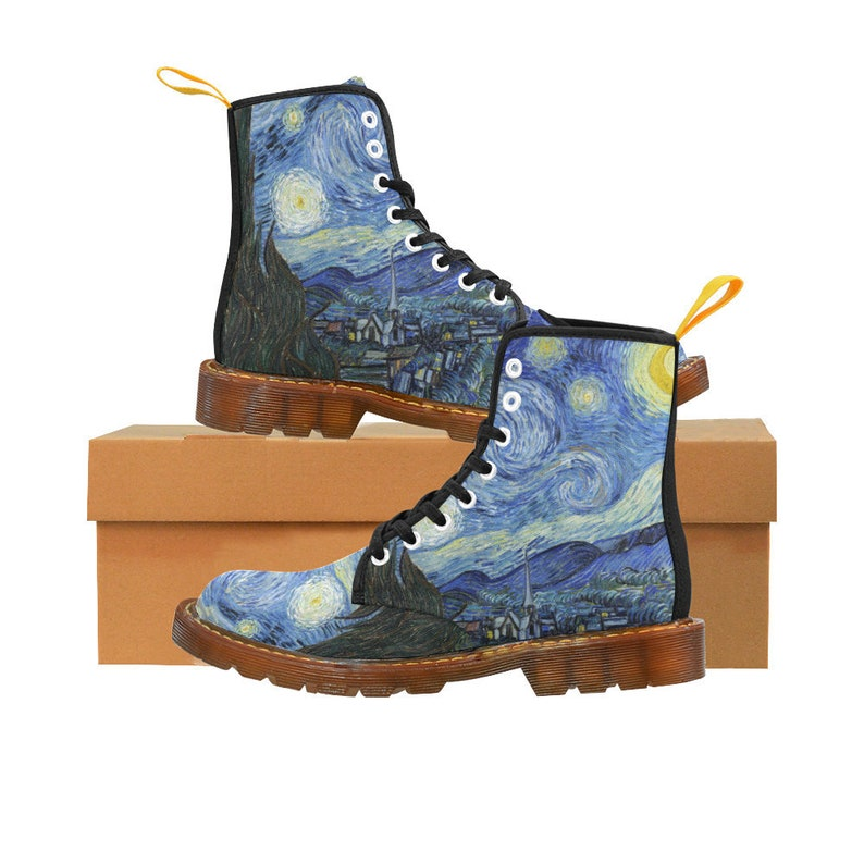 328007bf528ff The Starry Night Vincent Van Gogh Boots - Vintage Art Women's Boots - Snow  Boots