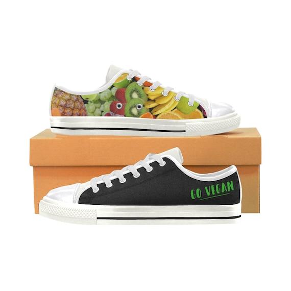 Go Vegan Shoes Fruits Vegetables Vegan Women Shoes Veganism Vegan Gift Sneakers