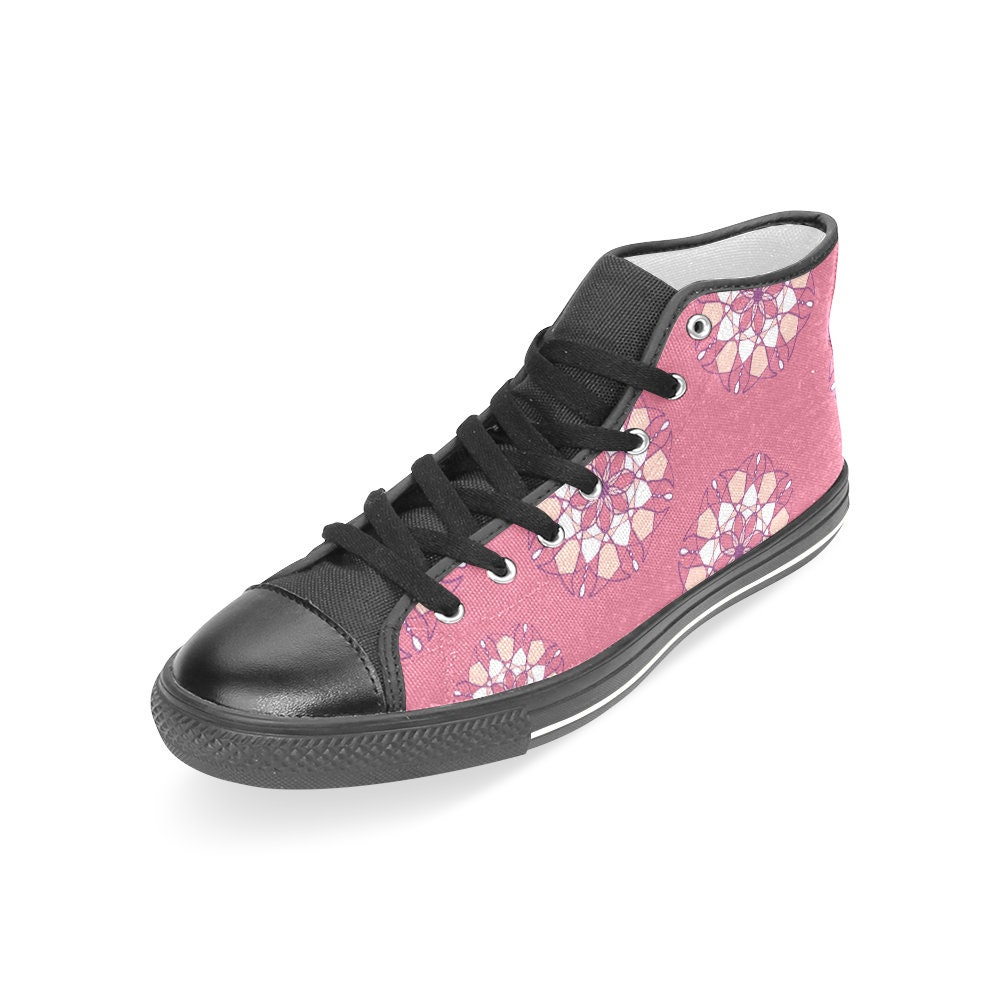 Rosadoo Flower Zapatos - Flowers Flowers Flowers Hi Top Mujer Zapatillas 302ab4