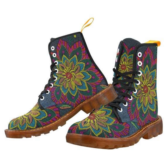 Imprimé floral Jeans bottes femmes - bottes de de de motif