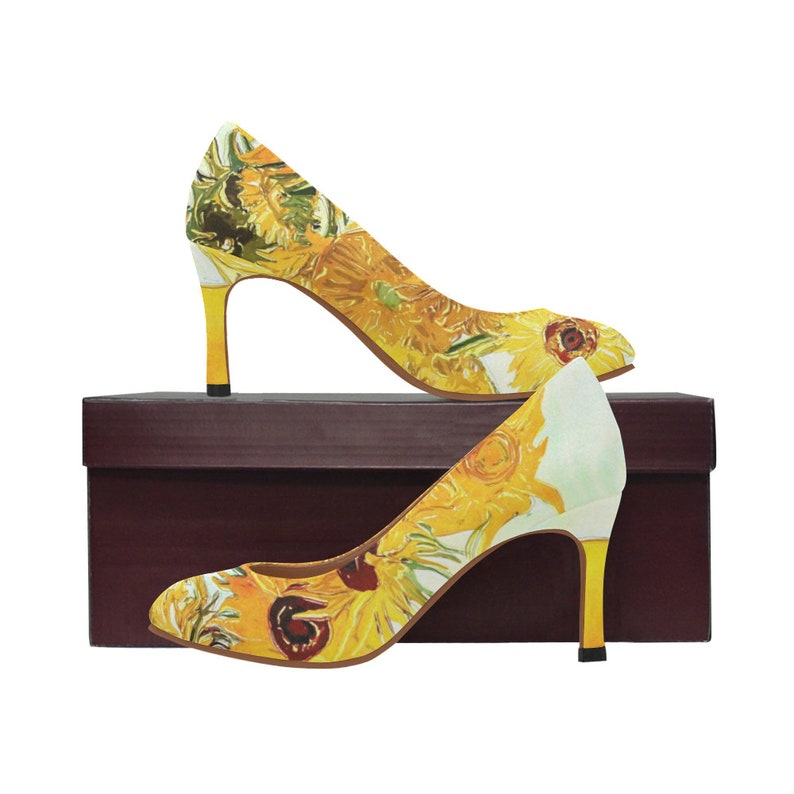 74fed8d1a73 Vincent van Gogh Sunflower Women s High Heels Flower