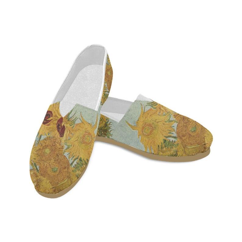 2d44acb0779a6 Vincent van Gogh Sunflower Casual Women's Shoes