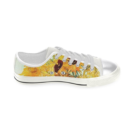 Fashion Sneakers Women Sunflower and Seeds Classic Canvas Shoes Skate Sneakers Women Fashion Print Original Durable