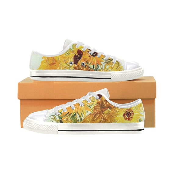 259f627fc35 Vincent van Gogh Sunflower White Canvas Women s Shoes
