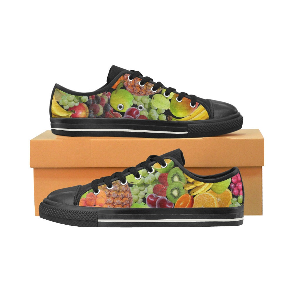 Fruits and Vegetables - Shoes - Multicolored Shoes - Vegetables Vegan Women Shoes - Fun Sneakers f53ddc
