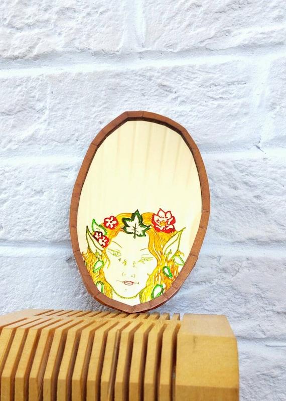 Woodland Fairy Mirror, Handmade Pocket Mirror - image 2